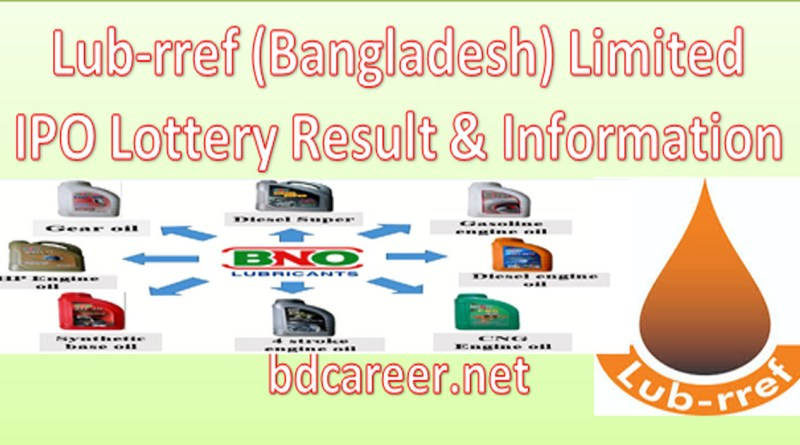Lub-rref (Bangladesh) Limited IPO Lottery Result