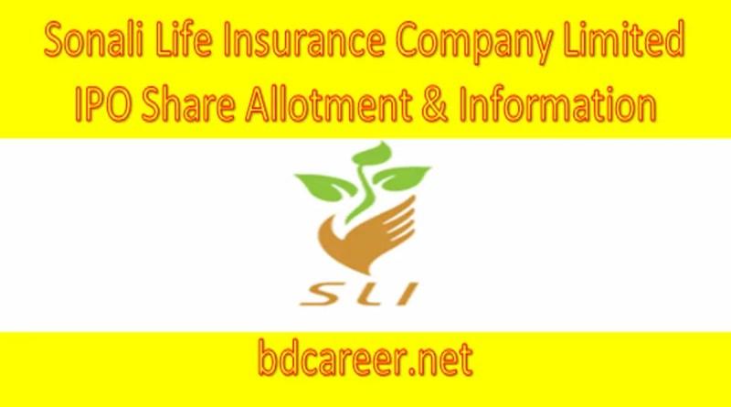Sonali Life Insurance IPO Share Allotment & Information 2021