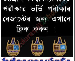 Chittagong University Admission Result 2017-18