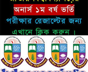 National University Honours Admission Result 2016-17