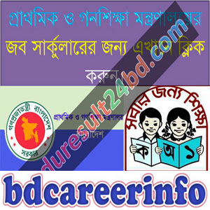 Primary Mass Education Job Circular 2018