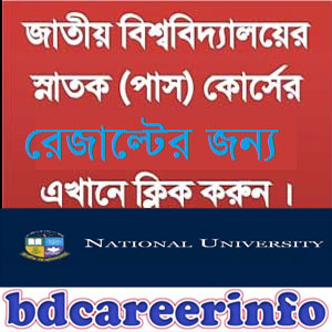 National University Degree Pass Admission Result 2018-19