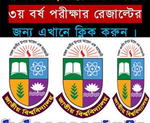 National University Honours 3rd Year Result 2015