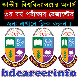 National University Honours 3rd Year Result 2018