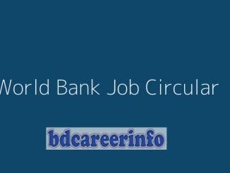World Bank Bangladesh Job Circular 2019