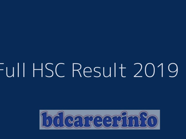 Full HSC Result 2019 With Mark Sheet