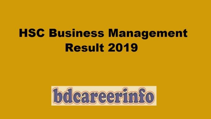 HSC Business Management Result 2019