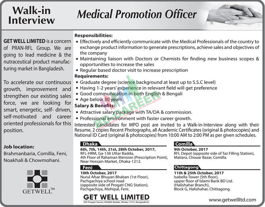 Get Well Limited job circular