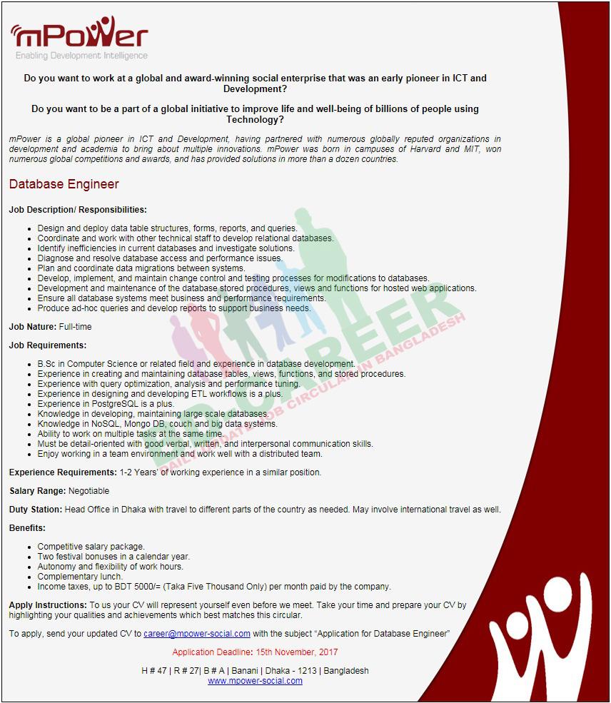 mPower Social Enterprises job circular
