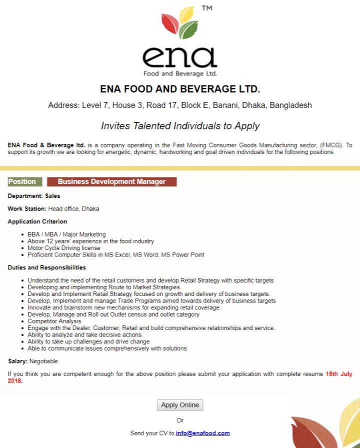 ENA Food & Beverage Ltd (1)