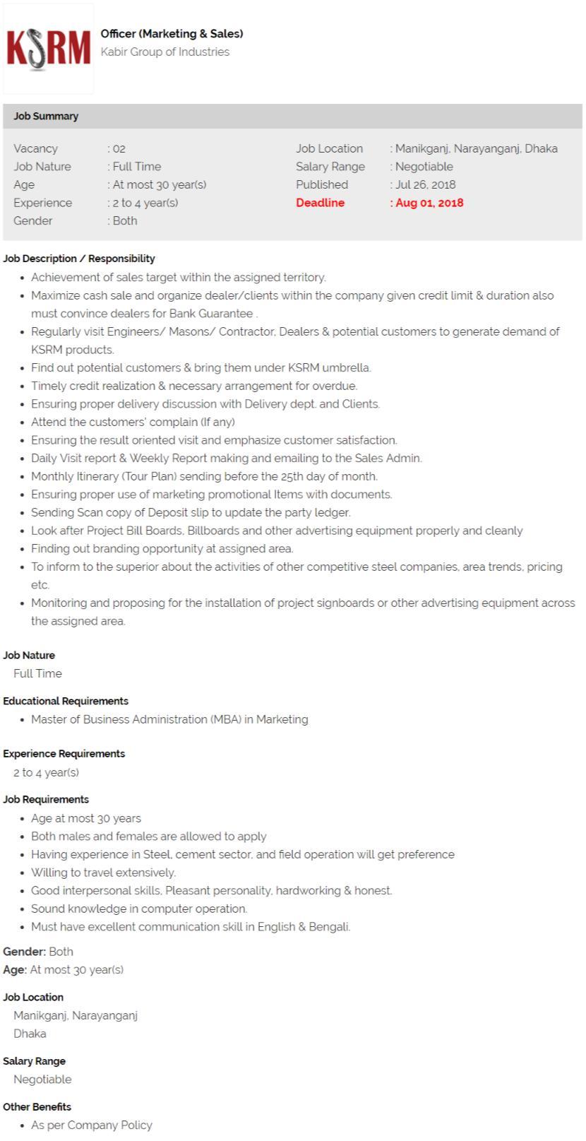 Kabir Group Job Circular 2018
