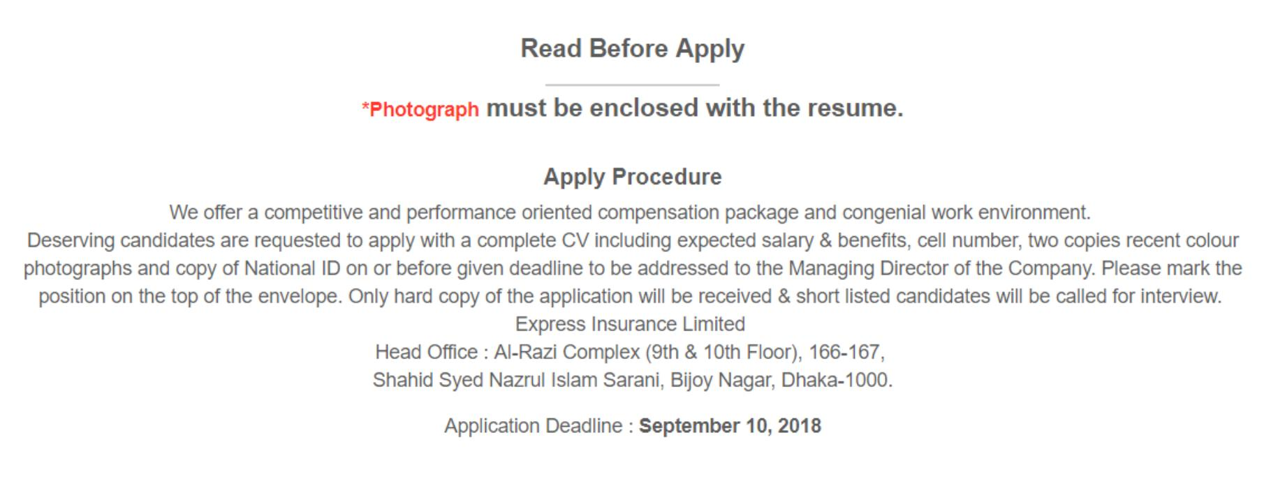 Express Insurance Limited Job Circular