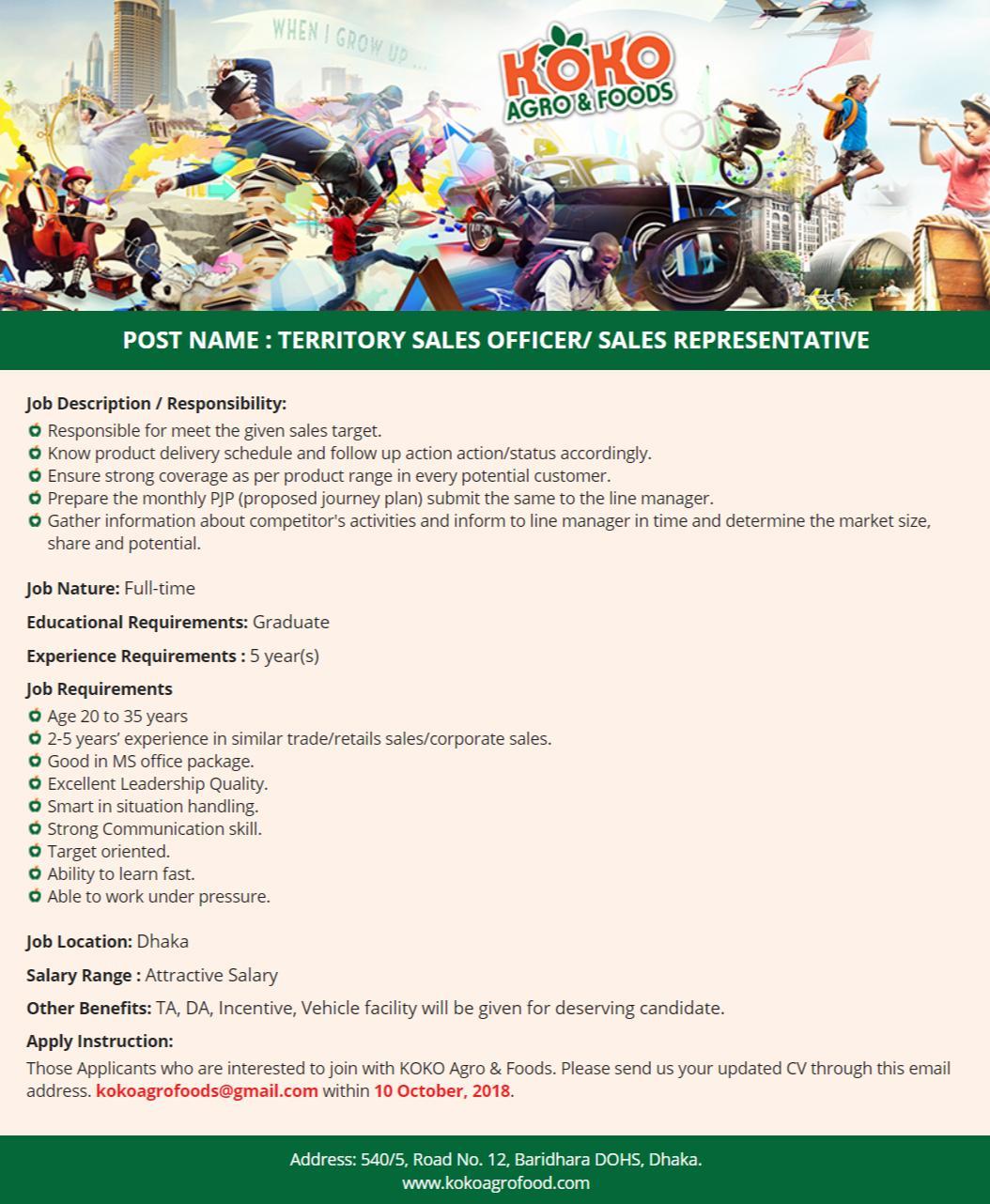 KOKO Agro & Foods Job Circular