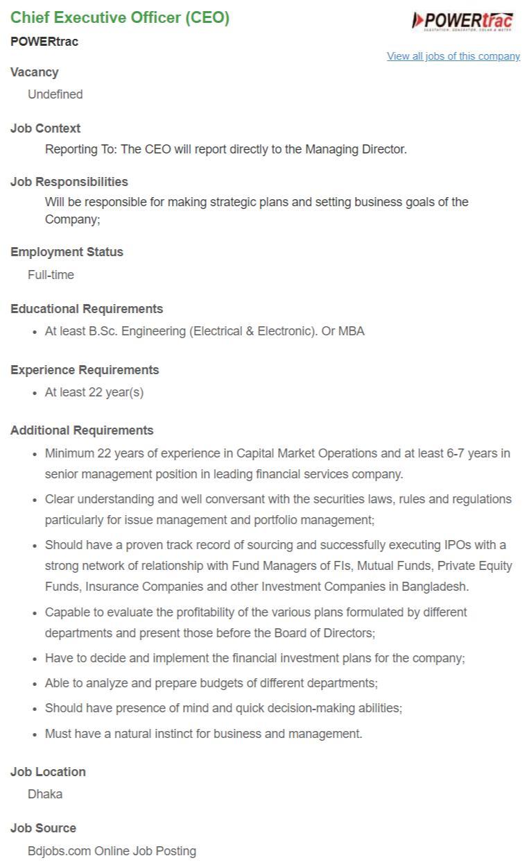 Protec Electronics Ltd Job Circular