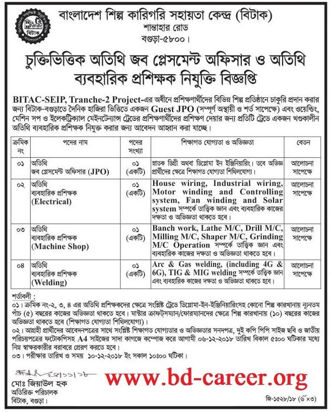 BITAC Job Circular -bitac.gov.bd