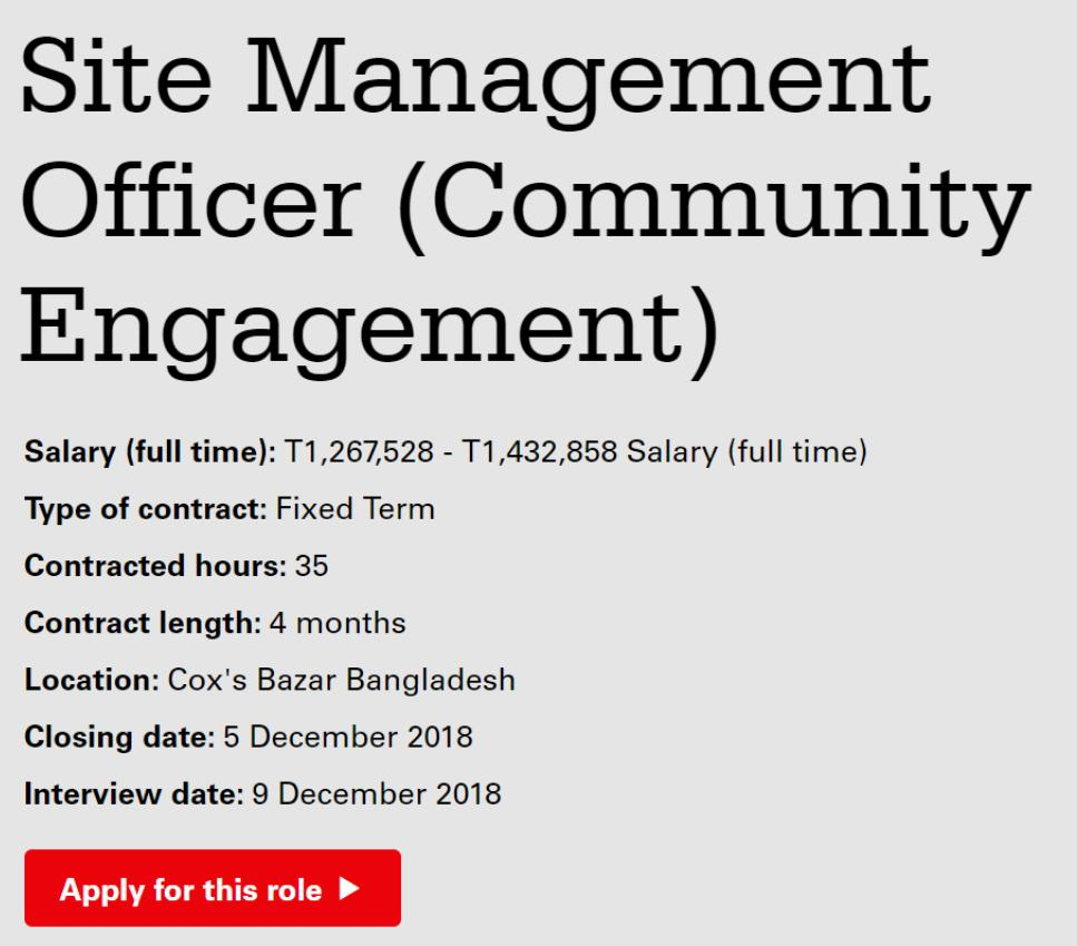 Christian Aid - Careers - Site Management Officer (Community Engagement) (2229)