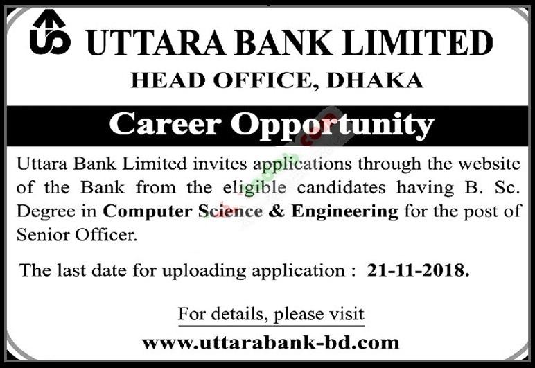 Uttara Bank Ltd Job Circular