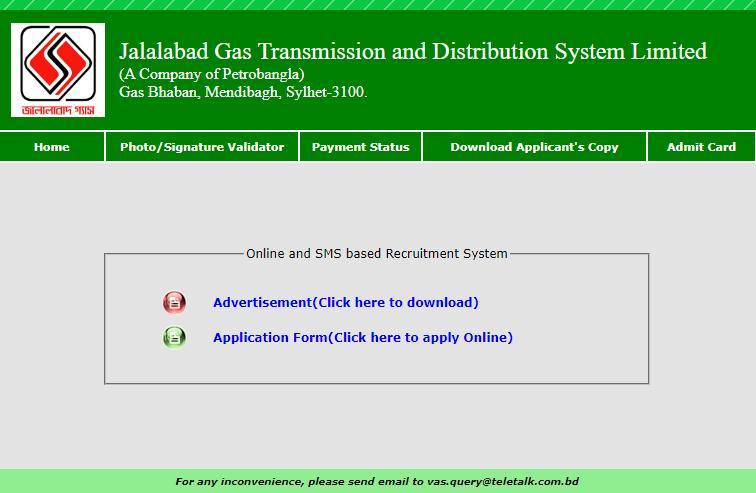 Jalalabad Gas Transmission and Distribution System Limited_br___font size=3_(A Company of Petrobangla)_br__Gas Bhaban, Mendibagh, Sylhet-3100 __font_