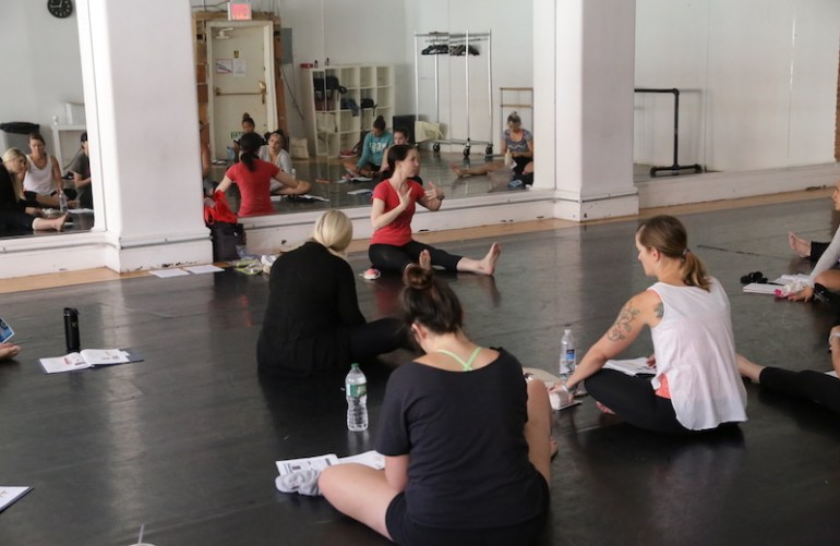 Joy Karley's Foot Conditioning Class at BDC.