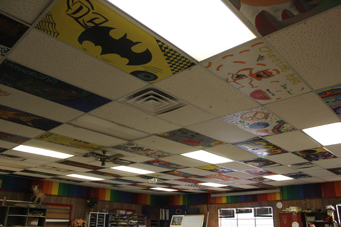 ceiling tile project welcome toart class