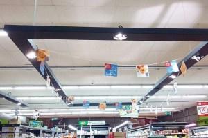 Rénovation éclairage supermarché