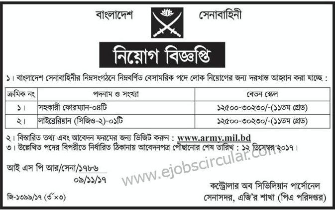 Bangladesh Army jobs