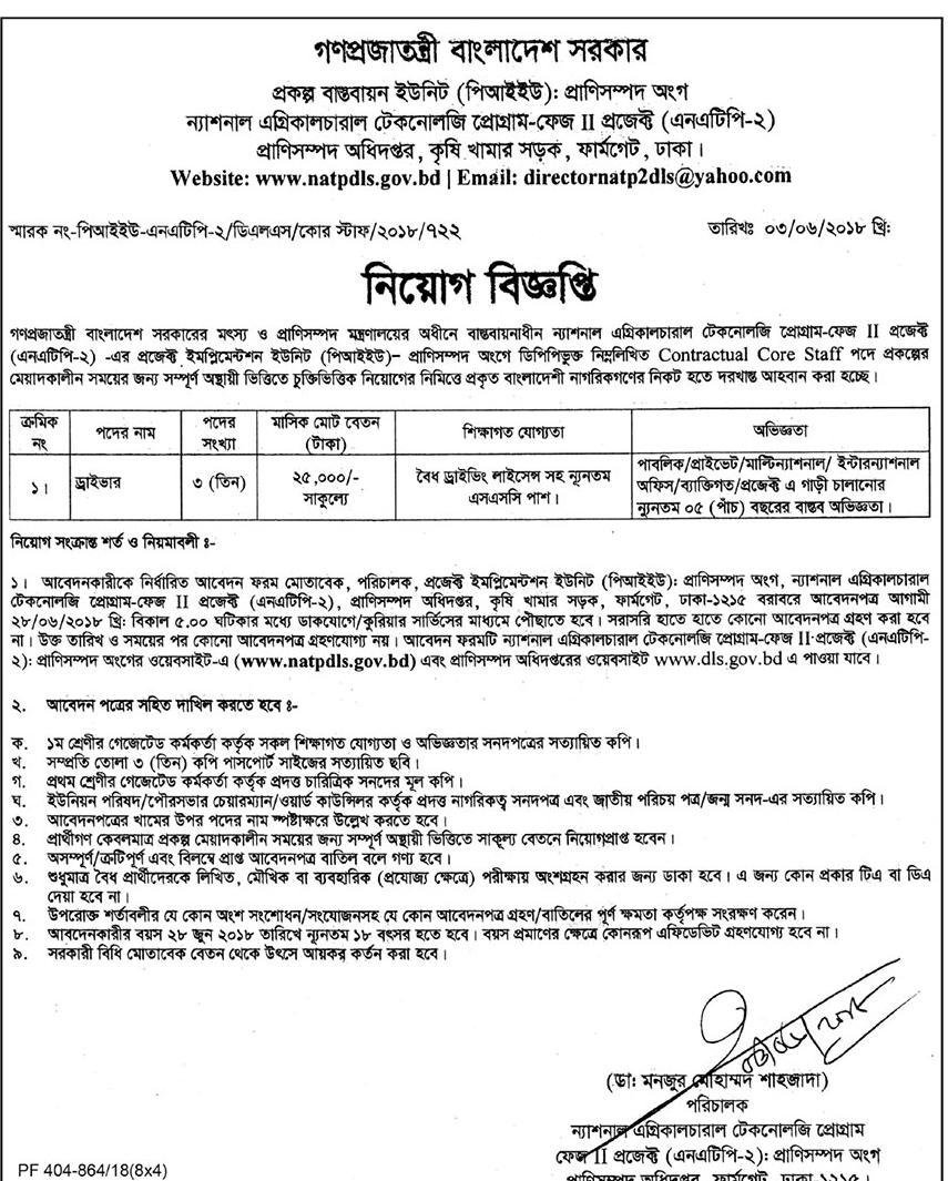 Bangladesh Livestock Research Institute job circular -2018