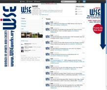 Background skin for @WISEWorks National twitter account- Promoting the 2012 Women of the Year Awards Luncheon