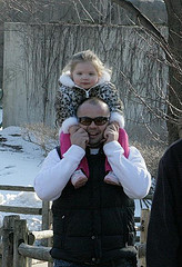 Father and Daughter at the Zoo