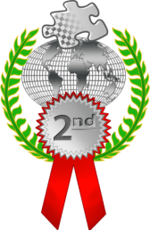 22nd place ribbon for a race