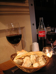 Bread, wine and coke