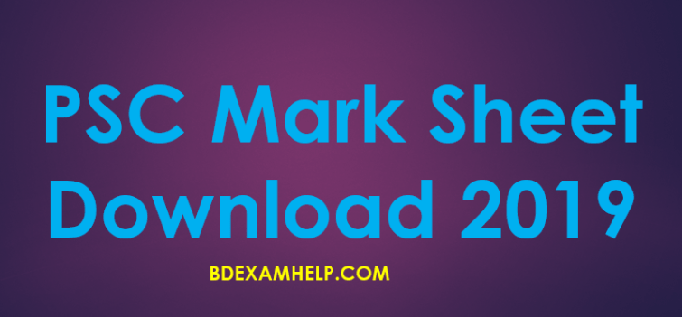 PSC Result 2019 Marksheet Download