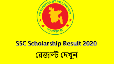 SSC Scholarship Result 2020