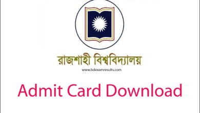 RU Admit Card Download