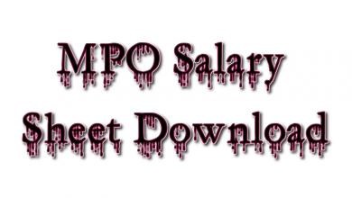 MPO Salary Sheet