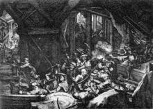 Tunnelkampf unter der Burgbastei