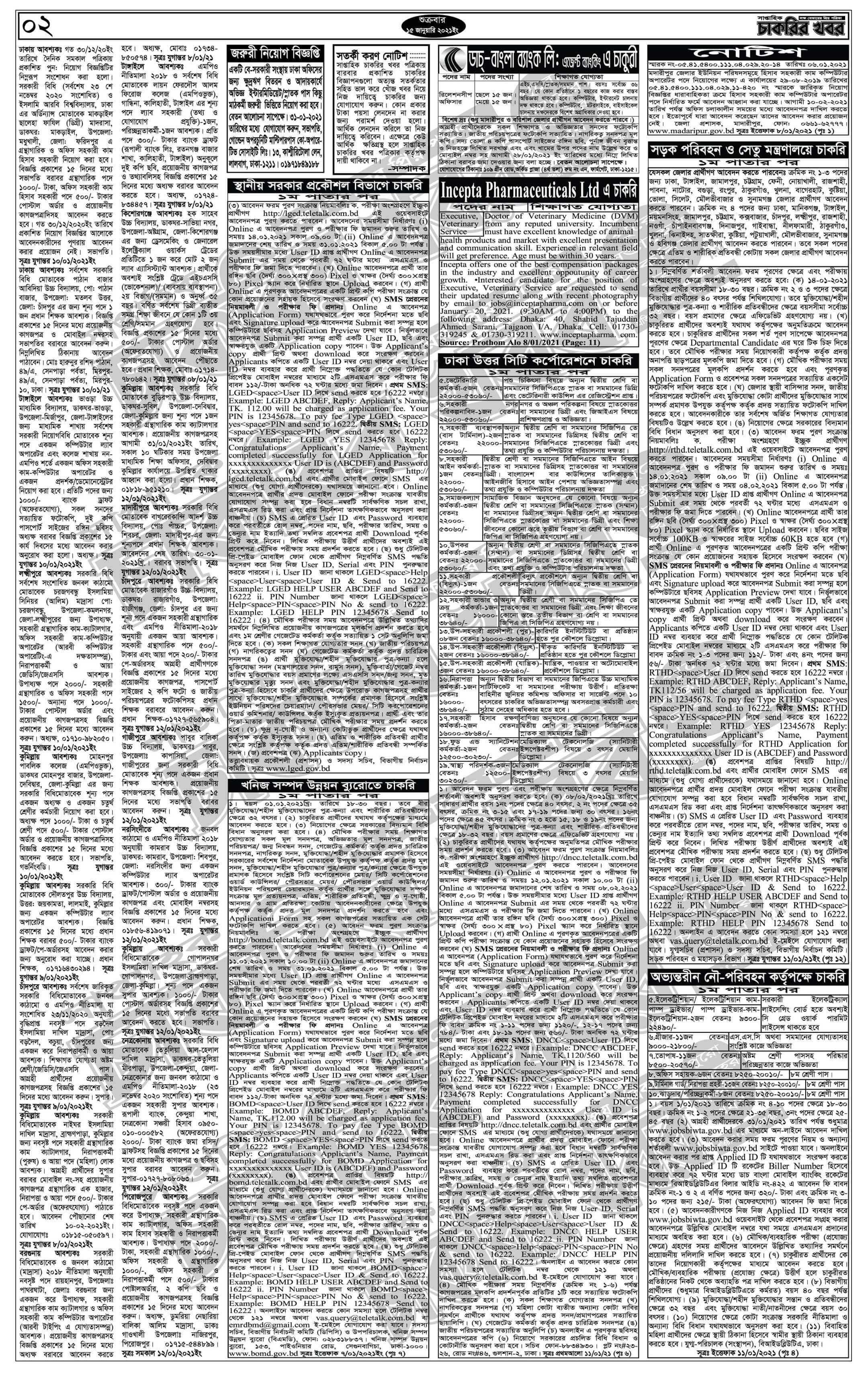weekly job newspaper 15 January 2021