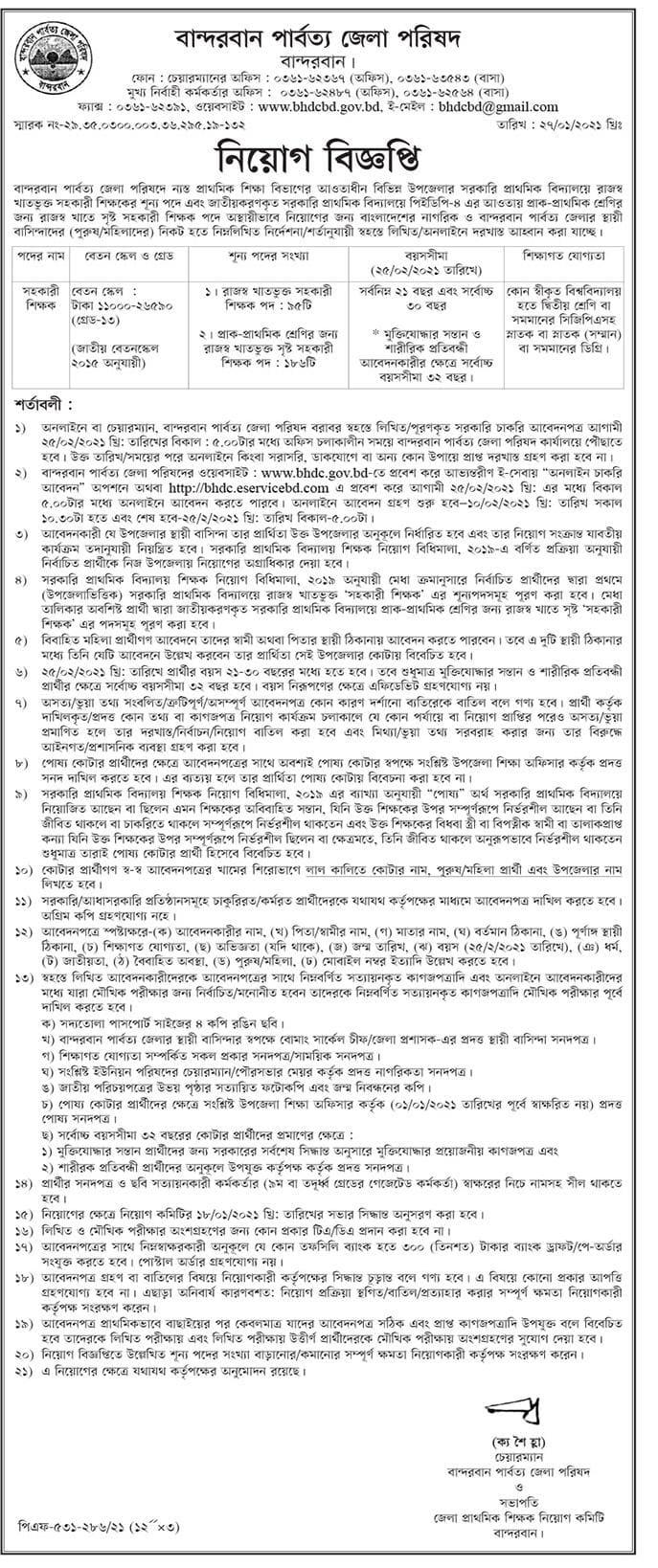 BHDC Job Circular 2021