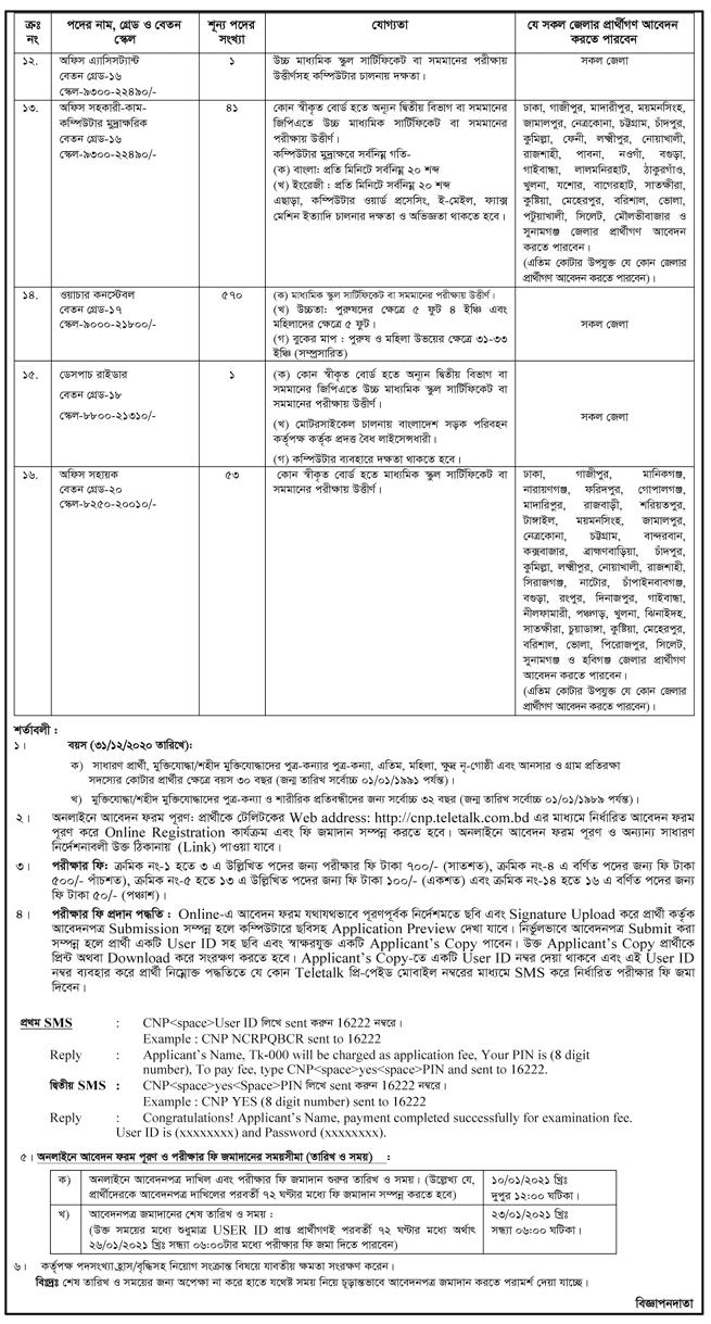 Prime Minister Office Job Circular