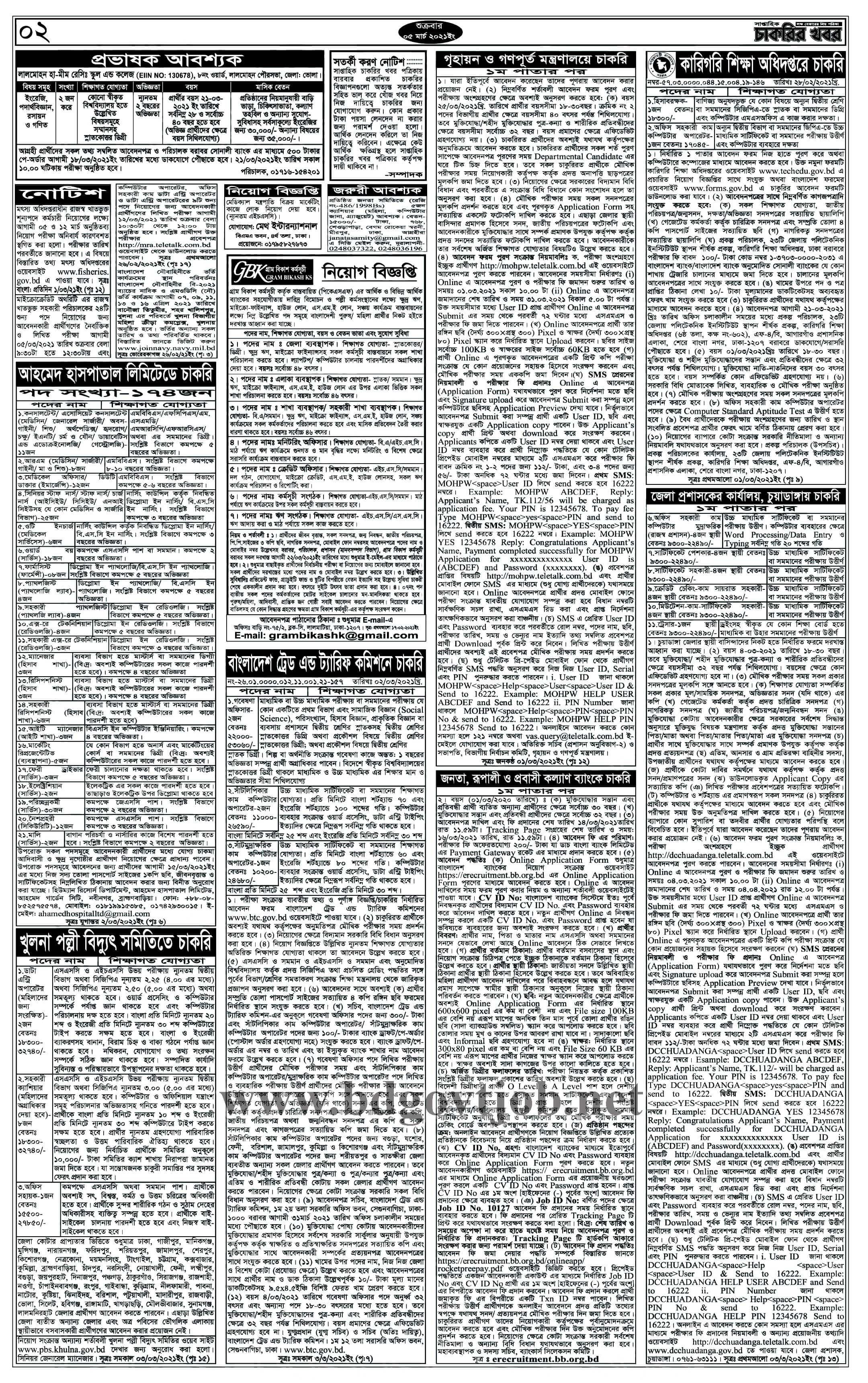 weekly job newspaper 5 March 2021