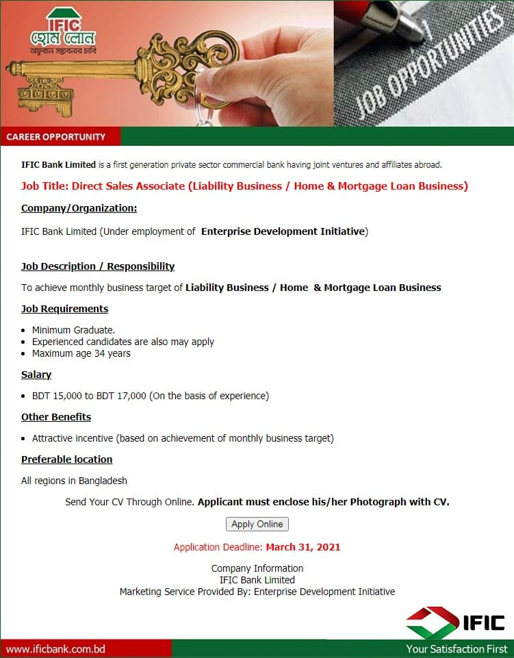 IFIC Bank Limited Job Circular