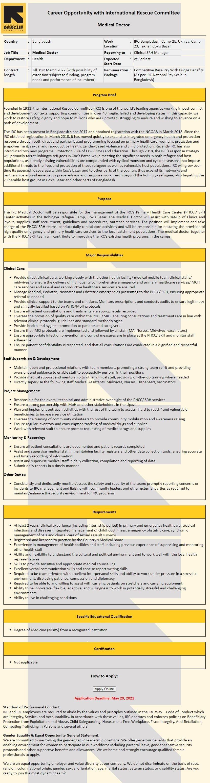 International Rescue Committee Job Circular 2021