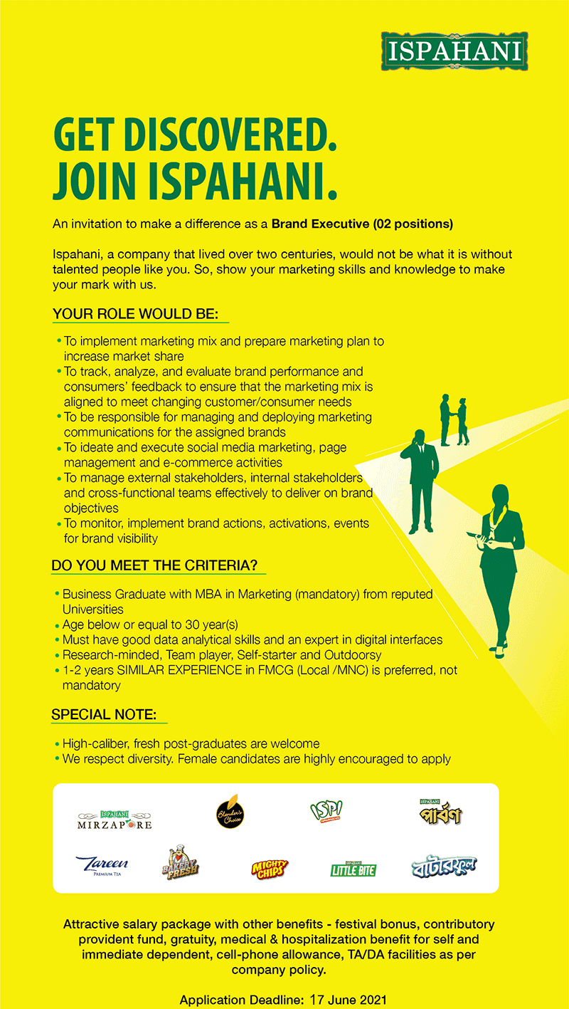 Ispahani Limited Job Circular 2021