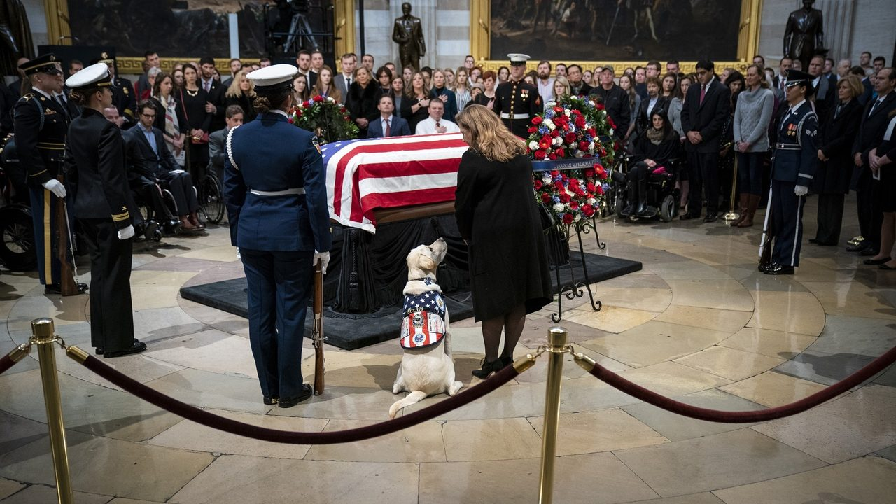 President George Bush's funeral