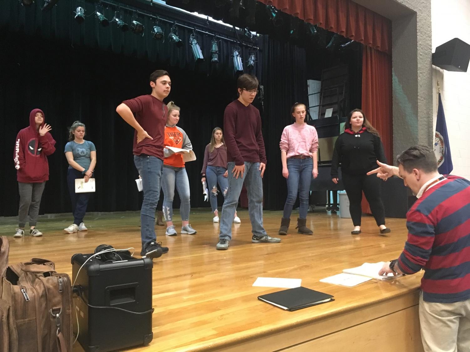 The cast of Seussical: the Musical rehearses.