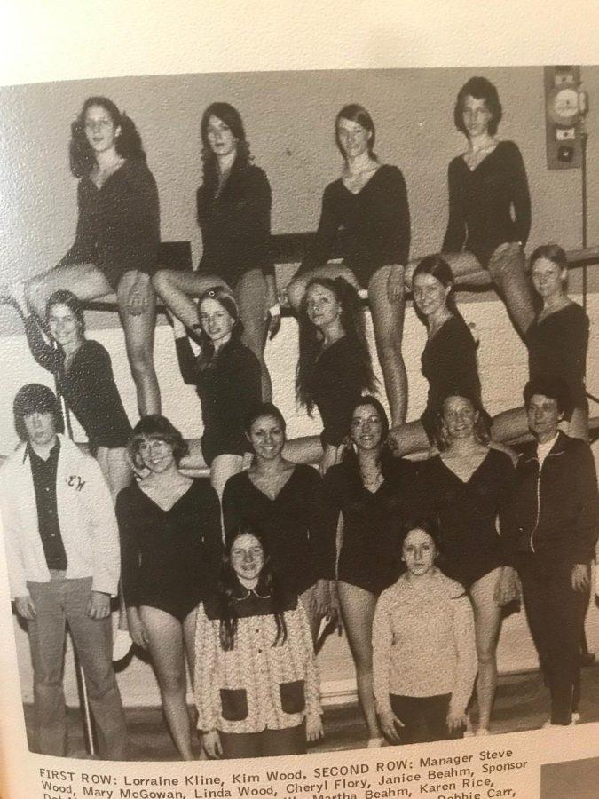 Brentsville+District+Tigers+1974+gymnastics+team.+