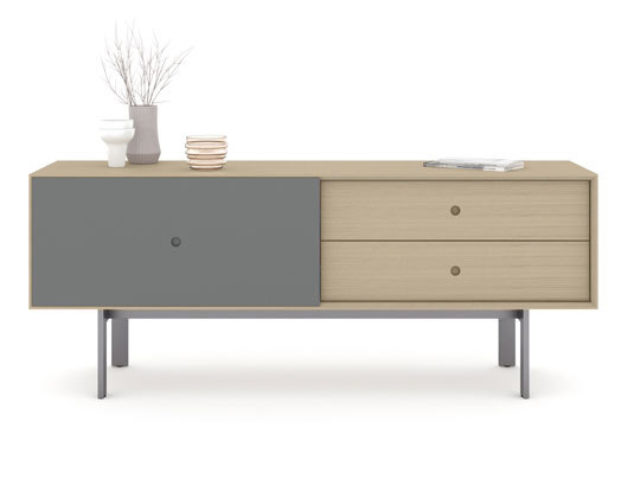 The sturdy powder-coated steel base of the Margo 5229 cabinet provides exceptional stability, while hidden levelers in the legs help to compensate for uneven surfaces.