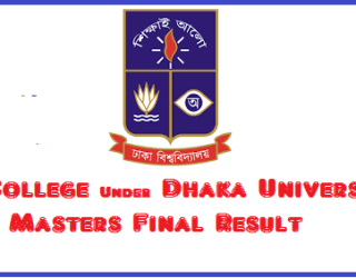 DU Under 7 College Masters Final Result, 7 College Masters Final Result, 7 College Under dhaka university Masters Final Result, 7 College DU Masters Final Result 2017