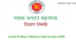Social Welfare Ministry Job Circular