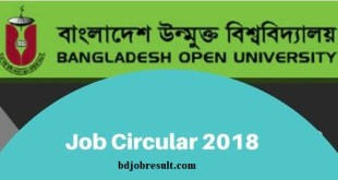 Bangladesh Open University Job Circular